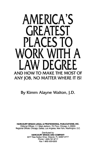 America s Greatest Places to Work with a Law Degree PDF