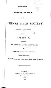Annual Report of the American Bible Society: Volume 2