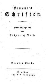Hamann's Schriften: Volume 2