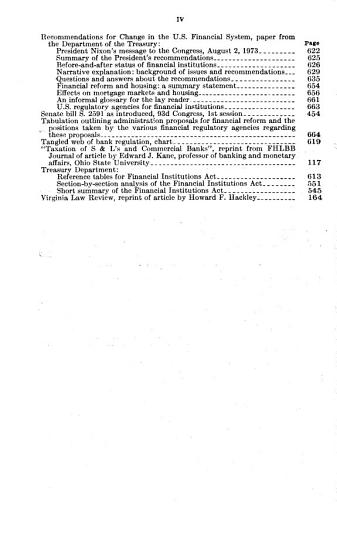 Financial Structure and Regulation  Hearings Before the Subcommittee on Financial Institutions of      93 1      November 6  7  and 8  1973 PDF