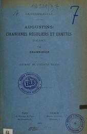 Grandidieriana: Augustins : chanoines réguliers et ermites d'Alsace