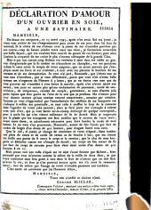 Déclaration d'amour d'un ouvrier en soie, à une satinaire [texte en dialecte lyonnais signé Gerome Bliclar, 15 navri 1795]