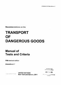 Recommendations on the Transport of Dangerous Goods PDF