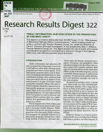 Research Results Digest   National Cooperative Highway Research Program PDF