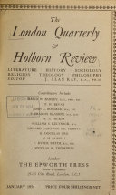 London Quarterly and Holborn Review