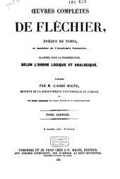 Œuvres complètes de Fléchier: Volume1