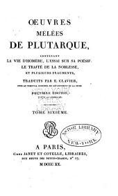 Oeuvres de Plutarque: Oeuvres mêlées