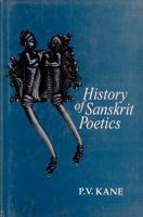 History of Sanskrit Poetics PDF