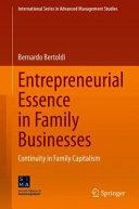 Entrepreneurial Essence in Family Businesses