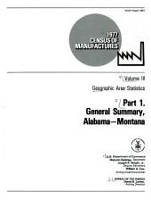1977 census of manufactures: Geographic area statistics, Part 1