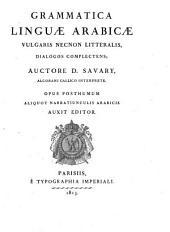 Grammaire de la langue arabe vulgaire et littérale