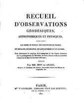 Recueil d'observations geodesiques, astronomiques et physiques, executees en Espagne. (etc.)