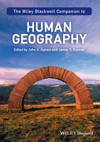 The Wiley Blackwell Companion to Human Geography PDF