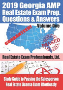 2019 Georgia AMP Real Estate Exam Prep Questions and Answers PDF
