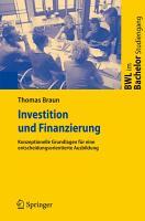 Investition und Finanzierung PDF