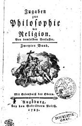 Zugaben zur Philosophie der Religion: Zweyter Band