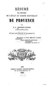Résumé de l'histoire de l'étate et comté souverain de Provence