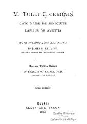 M. Tulli Ciceronis Cato maior de senectute ; Laelius de amicitia
