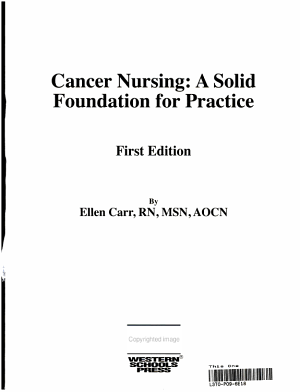 Cancer Nursing PDF
