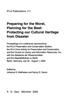 Preparing for the Worst, Planning for the Best