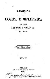 Lezioni di logica e metafisica: Volumi 3-4