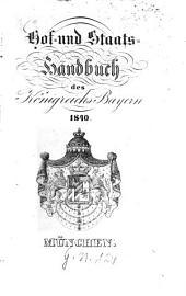 Hof- und Staatshandbuch des Königreichs Bayern: 1840