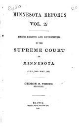 Minnesota Reports: Volume 27