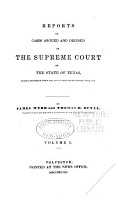 Reports of Cases Argued and Decided in the Supreme Court of the State of Texas PDF