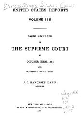 United States Reports: Cases Adjudged in the Supreme Court, Volume 115