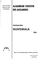 Allgemeine Statistik des Auslandes PDF