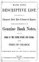 Bank Note Descriptive List PDF