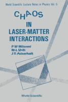 Chaos In Laser matter Interactions PDF