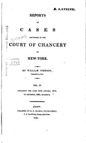 Reports of Cases Adjudged in the Court of Chancery of New York: Volume 4