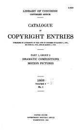 Catalog of Copyright Entries: Part 1