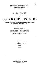 Catalog of Copyright Entries: Part 1