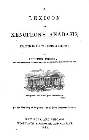 A Lexicon to Xenophon s Anabasis