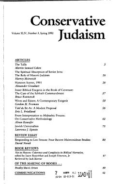 Conservative Judaism PDF