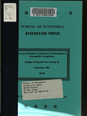 Pursuit of Relative Conspicuous Consumption in Monopolistic Competition PDF