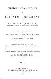 Biblical Commentary on the New Testament: Volume 6