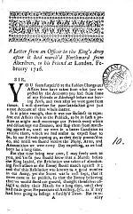 A Letter from an Officer in the King's Army After it Had March'd Northward from Aberdeen, to His Friend at London. February 1716