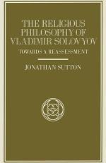 The Religious Philosophy of Vladimir Solovyov
