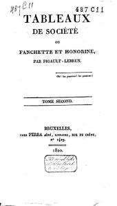 Tableaux de société, ou fanchette et honorine