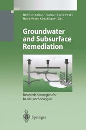 Groundwater and Subsurface Remediation: Research Strategies for In-situ Technologies