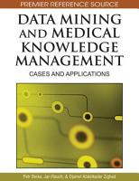 Data Mining and Medical Knowledge Management  Cases and Applications PDF