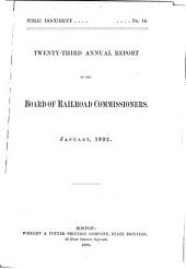 Annual Report of the Board of Railroad Commissioners: Volume 23