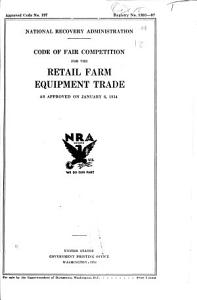 Codes of Fair Competition PDF