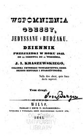 Wspomnienia Odessy, Jedyssanu i Budżaku: dziennik przejaźdzki w roku 1843, od 22 czerwca do 11 września, Tom 2
