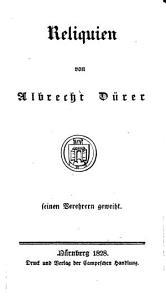 Reliquien von Albrecht D  rer PDF