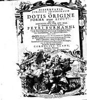 Dissertatio ... de notis origine, forma atque effectu