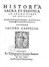 Historia sacra et exotica... auctore Jacobo Capello...